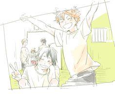 Image about anime in Haikyuu! Haikyuu, Sketches, Sports Anime, Tsukiyama Haikyuu, Anime, Tsukiyama