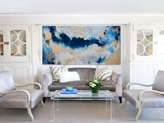 LARGE Original Abstract Painting Contemporary by HOUSEARTGALLERY