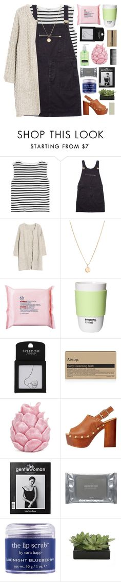 """""""I can't mold a girl like you [collab with symone]"""" by maheroo ❤ liked on Polyvore featuring T By Alexander Wang, Margaret Howell, Laura Lee, The Body Shop, ROOM COPENHAGEN, Topshop, Aesop, Zara Home, Sephora Collection and Qupid"""