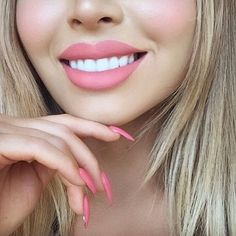 LOVE this soft pink on @jadeywadey180  She combined our Liquid Suede Cream Lipstick in 'Tea & Cookies' and our Lip Lingerie in 'Baby Doll'     #nyxcosmetics by nyxcosmetics