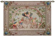 Beauvais French Tapestry B H 44 x W 58 Cream (Ivory) by Charlotte Home Furnishings Tapestry Fabric, Tapestry Weaving, Tapestry Wall Hanging, Wall Hangings, Aubusson Rugs, French Walls, Happy House, Cellphone Wallpaper, Wall Design