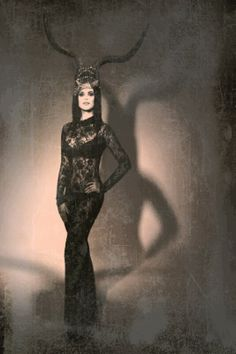 The horned lady. Next Halloween costume?