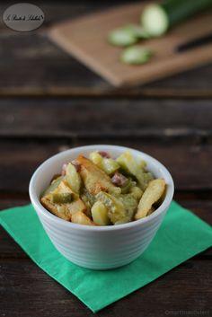 Zucchine con patate e pancetta