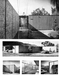 Craig Ellwood - Case Study House No. 17 - 5 of 15 Vintage Architecture, Architecture Design, Classic Architecture, Architecture Portfolio, School Architecture, Residential Architecture, Craig Ellwood, Mid Century Exterior, Facade House