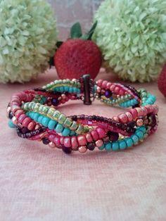 Festive Braided Bracelet by suzanneshores on Etsy, $29.95