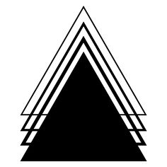 Geometric Tattoo Designs | Black Ink Geometric Triangle Tattoo Design
