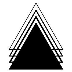 Geometric Tattoo Designs | Black Ink Geometric Triangle Tattoo Design
