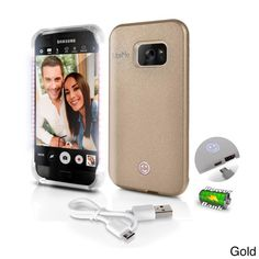 Lite-Me Selfie Lighted Samsung Galaxy S7 Edge Smart Case With Power Bank and LED Lights