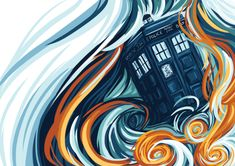 """gofishblues: """" was asked to draw a tardis """" now available as a print!"""