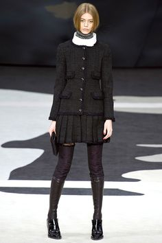 Classic 4ever Look @CHANEL chanel fall winter 2013 #pfw paris #fashion week