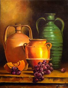 Óleo sobre tela Fruit Painting, Diy Painting, Teaching Drawing, Still Life Images, Still Frame, Object Drawing, Still Life Oil Painting, Art For Art Sake, Kitchen Art