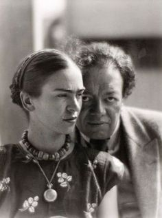 "Frida Kahlo and Diego Rivera by Martin Munkacsi, ""There have been two great accidents in my life. One was the trolley, and the other was Diego. Diego was by far the worst. Martin Munkacsi, Frida E Diego, Diego Rivera Frida Kahlo, Frida Art, Diego Rivera Art, Portraits, Dali, Famous Artists, Latin Artists"