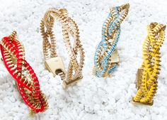 Gossip´s Fashion Week: by valera, pulseras de cremalleras