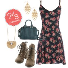 In this outfit: My So Cool Life Dress, Filigree of Flair Earrings, Gonna Shape Up Necklace, Posh and Proper Bag, Fall Festivities Boot
