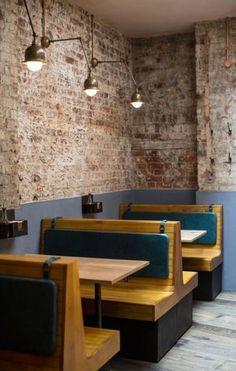 Ideas Booth Seating Bar Furniture - Image 6 of 21 Cafe Restaurant, Banquette Restaurant, Restaurant Booth Seating, Decoration Restaurant, Cafe Seating, Banquette Seating, Restaurant Furniture, Floor Seating, Bar Furniture