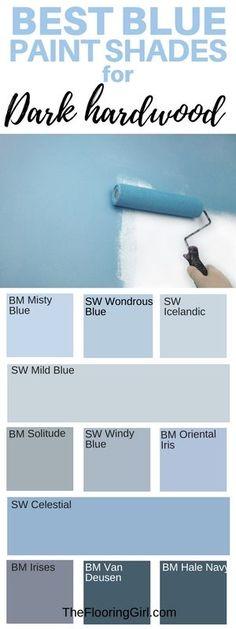 Mild blue for formal living ... Hale navy for library?