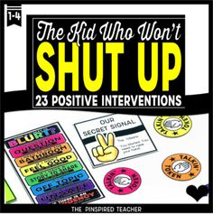 This 23 Behavior Interventions for The Kid Who Blurts, Blurts, and Blurts Some More is a resource made for the kid who's mouth is a volcano! (Perfect for PBIS schools!) As a teacher, if you are looking to reduce the number of classroom disruptions so that you can maximize your
