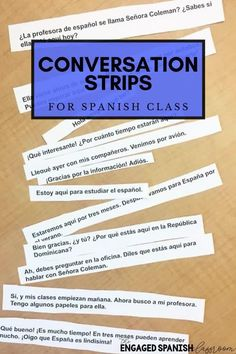 Looking for a hands-on opener for your middle or high school Spanish classes? Look no further! Conversation strips are wonderful reading comprehension practice. Provide comprehensible input while keeping your students engaged and completely in the target language! Click through to see available sets! Study Spanish, Spanish Lessons, Spanish 1, Teaching Style, Teaching Spanish, Spanish Activities, Reading Activities, Comprehensible Input, Ap Exams