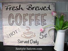 Restyle Relove: DIY Kitchen Coffee Sign