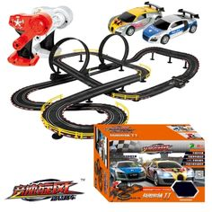 86.99$  Buy here - http://ali5t5.worldwells.pw/go.php?t=32780227741 - Hot Sell 1100cm 1:43 Electric rail car track set double RC racing kids toys boys gift DIY assembly toys for children diecast 86.99$