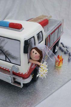 Fire engine wedding Cake II by ~Verusca on deviantART