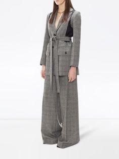 JW Anderson пиджак в технике пэчворк - купить в интернет магазине в Москве | Цены, Фото. Flare Leg Pants, Wide Leg Trousers, Duster Coat, Legs, Elegant, Jackets, Shopping, Women, Fashion