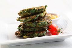 Lentil and Spinach Fritters are mildly spicy and packed with goodness as well.
