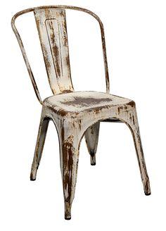 Imagen de la silla para hostelería Dres blanca, fabricada por Francisco Segarra.