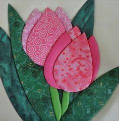 17 New Ideas Patchwork Sin Agujas Pattern Applique Quilt Patterns, Hand Applique, Flower Applique, Applique Designs, Quilting Designs, Flower Quilts, Fabric Flowers, Tutorial Applique, Sewing Crafts