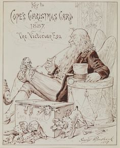 10 Dec: An old man with long hair, a beard and wings, sitting in a chair and smoking a pipe