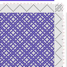 Hand Weaving Draft: Page 128, Figure 23, Donat, Franz Large Book of Textile…