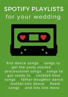 Choosing your wedding music? We can help! From processional songs to first dance… Choosing your wedding music? We can help! From processional songs to first dance songs, we share some of the best wedding songs and Spotify playlists. Unique Wedding Songs, Wedding Ceremony Music, Wedding First Dance, Wedding Dj, Trendy Wedding, Wedding Ideas, Wedding Rings, Wedding Planning, Wedding Reception
