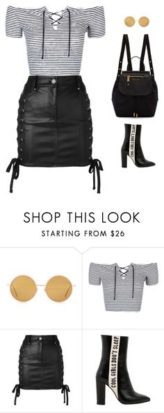 """glam rock"" by candynena228 ❤ liked on Polyvore featuring Acne Studios, Topshop, Versus, Havva and Marc Jacobs"