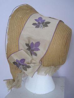 ebay seller markjr; c. 1850s straw bonnet