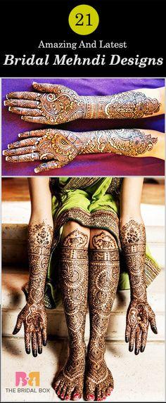 21 Amazing And Latest Mehndi Designs 2015