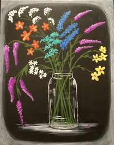 Browse our upcoming painting classes and events at Fayette Mall Pinot's Palette! Reserve your seat for the best paint and sip experience today! Canvas Painting Tutorials, Easy Canvas Painting, Spring Painting, Diy Canvas Art, Painting & Drawing, Black Canvas Paintings, Black Canvas Art, Soft Pastel Art, Paint And Sip