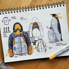 Presentation Techniques, Thumbnail Sketches, Object Drawing, Industrial Design Sketch, Artist Sketchbook, Baby Penguins, Graffiti Lettering, Hand Sketch, Conceptual Design