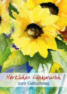 #Geburtstag #Glückwunsch # Sonnenblume