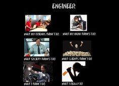 See more 'What People Think I Do / What I Really Do' images on Know Your Meme! Engineering Memes, I Am An Engineer, Mechanic Humor, Mad Science, Internet Memes, Know Your Meme, Make Me Smile, My Friend, Haha