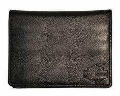 Harley Davidson® Men's Black Bi-Fold Leather Dress Wallet. Harley Bar & Shield Logo. HD952 Harley-Davidson. $16.95