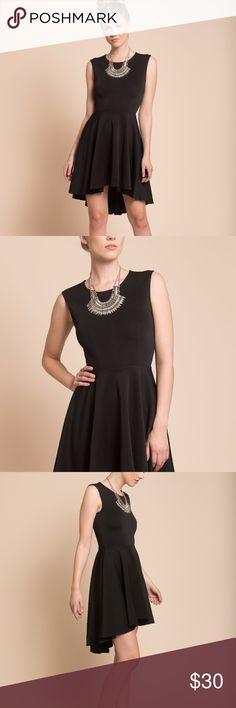 Black Dress Asymmetrical Black Dress  DETAILS & FIT Model is wearing XS size. Model Height 5'7''/ 170cm. Bust 32'' C. Waist 24''/ 61cm. Hips 34''/ 86cm.   SIZING  S = 2/4    CARE Hand wash Cold. Dresses Midi