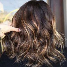 Subtle Blonde Highlights for Dark Hair