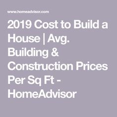 HomeAdvisor's Cost Guide to Building a House gives average prices per square foot, by zip code and by bedroom size for new residential home construction. Calculate costs of labor, materials, plans and more. Compare the cost of custom home vs. Building A House Checklist, Building A House Cost, Home Building Tips, Building Costs, Cost To Build, Cheap Houses, Build Your Own House, New Home Construction, Custom Built Homes