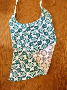 Adult or Special Needs Bib with Geometric Pattern