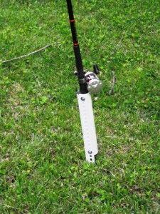 Diy bank fishing rod holders.  Easy, cheap and effective! http://catfishtraining.com/diy-bank-fishing-rod-holders#