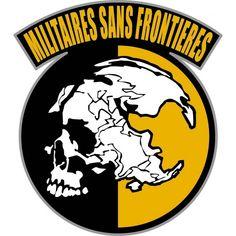 Logo of Militaires Sans Frontieres. Metal Gear Solid - Peace Walker - Ground Zeros.