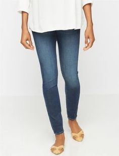 Articles Of Society Secret Fit Belly Mya Skinny Maternity Jeans, Tahoe