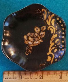 Miniature Plate by ekwpaintedtreasure on Etsy, $15.95
