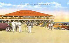 The old Dancing Pier, Folly Beach, Charleston, South Carolina...no longer there...but so many memories!