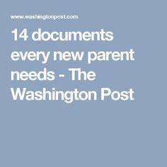 14 documents every new parent needs - The Washington Post